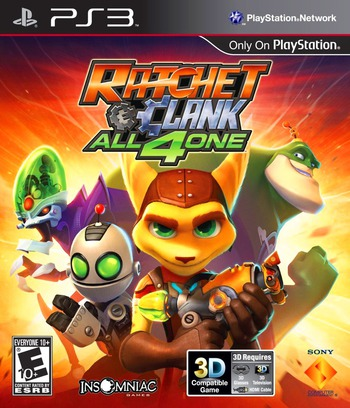 Ratchet & Clank: All 4 One PS3 coverM (BCUS98175)