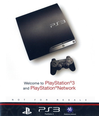 Welcome to PlayStation Network and PlayStation 3 Slim PS3 coverM (BCUS98213)