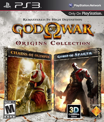 God of War Origins Collection PS3 coverM (BCUS98289)