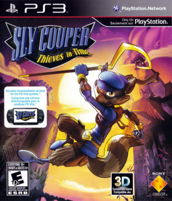 Sly Cooper: Thieves in Time PS3 coverM (BCUS99142)