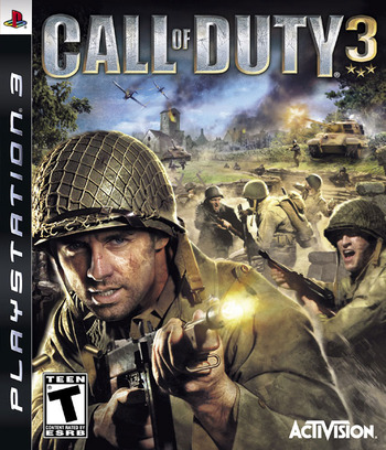 Call of Duty 3 PS3 coverM (BLUS30012)