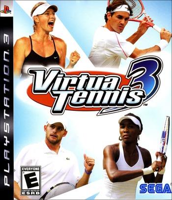Virtua Tennis 3 PS3 coverM (BLUS30021)