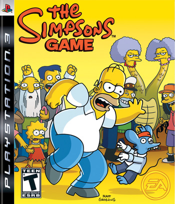 The Simpsons Game PS3 coverM (BLUS30065)