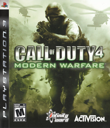 Call of Duty 4: Modern Warfare PS3 coverM (BLUS30072)