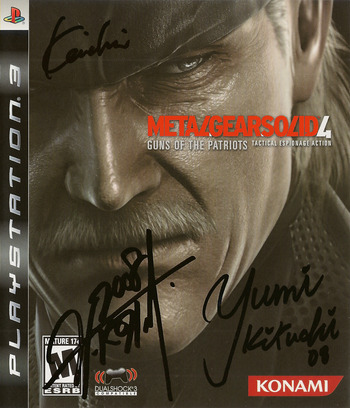 Metal Gear Solid 4: Guns of the Patriots PS3 coverM (BLUS30109)