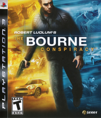 Robert Ludlum's The Bourne Conspiracy PS3 coverM (BLUS30137)