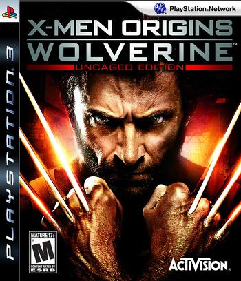 X-Men Origins: Wolverine (Uncaged Edition) PS3 coverM (BLUS30268)