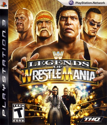 WWE Legends of Wrestlemania PS3 coverM (BLUS30269)