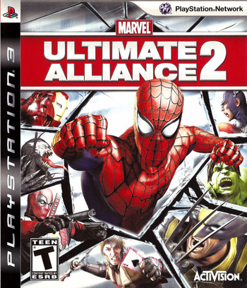 Marvel: Ultimate Alliance 2 PS3 coverM (BLUS30294)