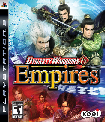 Dynasty Warriors 6: Empires PS3 coverM (BLUS30306)