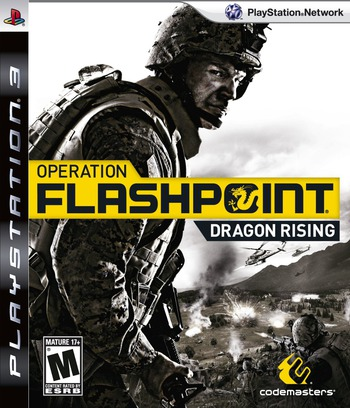 Operation Flashpoint: Dragon Rising PS3 coverM (BLUS30316)