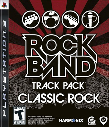 Rock Band: Track Pack - Classic Rock PS3 coverM (BLUS30327)