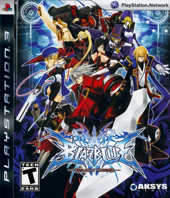 BlazBlue: Calamity Trigger PS3 coverM (BLUS30392)