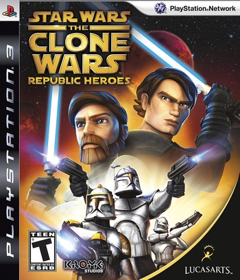 Star Wars The Clone Wars: Republic Heroes PS3 coverM (BLUS30394)