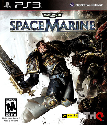 Warhammer 40000: Space Marine PS3 coverM (BLUS30432)
