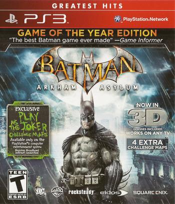 Batman: Arkham Asylum (Game of the Year Edition) PS3 coverM (BLUS30515)