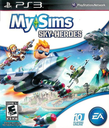 MySims SkyHeroes PS3 coverM (BLUS30520)