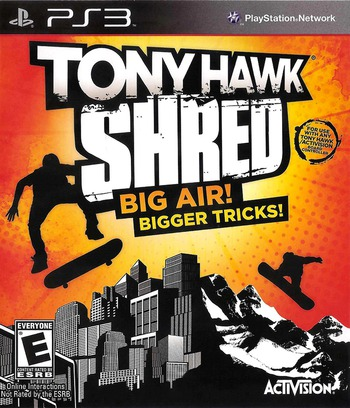 Tony Hawk: Shred PS3 coverM (BLUS30542)