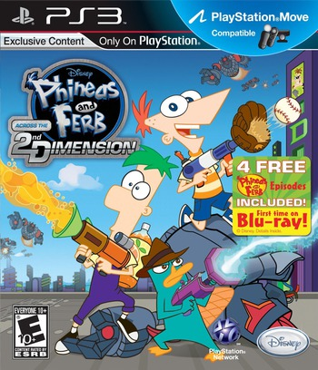 Phineas and Ferb: Across the 2nd Dimension PS3 coverM (BLUS30726)