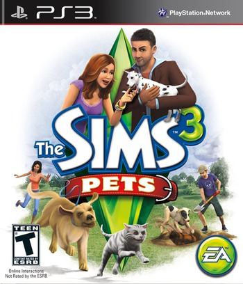 The Sims 3: Pets PS3 coverM (BLUS30803)