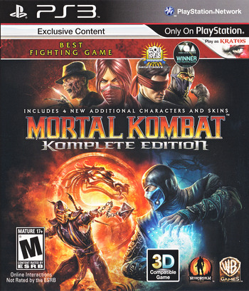 Mortal Kombat Komplete Edition PS3 coverM (BLUS30902)