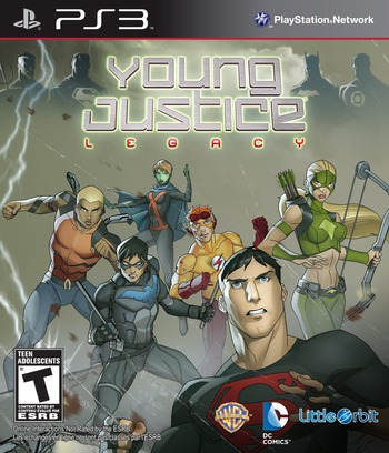 Young Justice: Legacy PS3 coverM (BLUS31170)