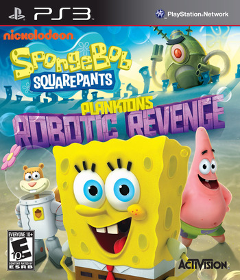 SpongeBob SquarePants: Plankton's Robotic Revenge PS3 coverM (BLUS31276)