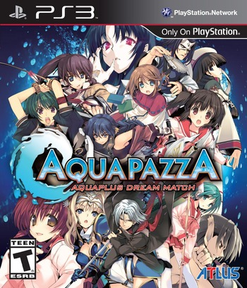 AquaPazza: AquaPlus Dream Match PS3 coverM (BLUS31321)