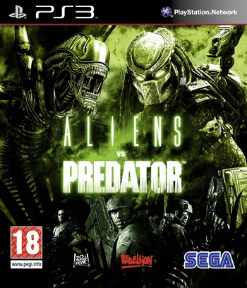 Aliens vs. Predator PS3 coverM2 (BLES00585)