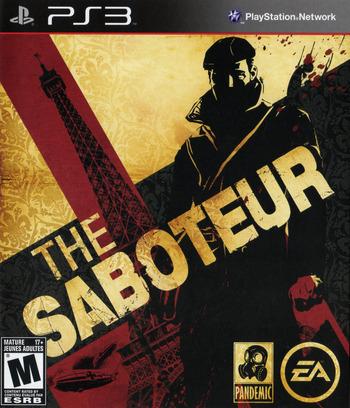 Saboteur PS3 coverM2 (BLUS30407)