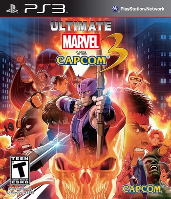 Ultimate Marvel vs. Capcom 3 PS3 coverM2 (BLUS30787)