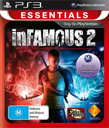 inFamous 2 PS3 coverMB (BCES01143)