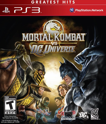 Mortal Kombat vs. DC Universe PS3 coverMB (BLUS41027)