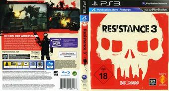 Resistance 3 PS3 cover (BCES01118)