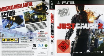 Just Cause 2 PS3 cover (BLES00517)
