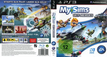 MySims: Sky Heroes PS3 cover (BLES01088)
