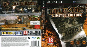 Bulletstorm (Limited Edition) PS3 cover (BLES01134)