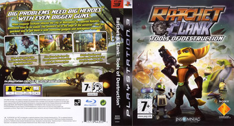 Ratchet & Clank: Tools of Destruction PS3 cover (BCES00052)