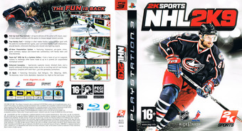 NHL 2K9 PS3 cover (BLES00353)