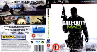 Call of Duty: Modern Warfare 3 PS3 cover (BLES01428)