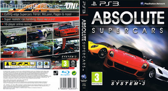 Absolute Supercars PS3 cover (BLES01500)
