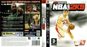 NBA 2K9 PS3 cover (BLES00384)