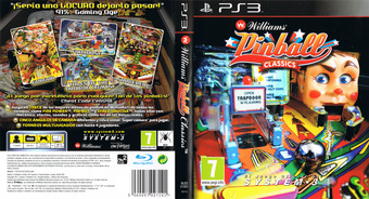 Williams Pinball Classics PS3 cover (BLES01051)