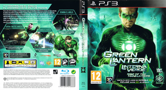 Green Lantern: Rise of the Manhunters PS3 cover (BLES01116)