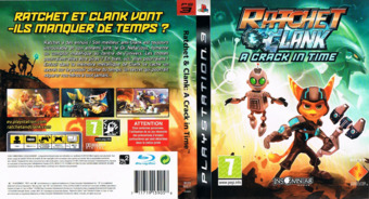 Ratchet & Clank: A Crack in Time pochette PS3 (BCES00511)