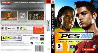 Pro Evolution Soccer 2008 pochette PS3 (BLES00110)