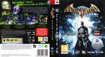 Batman: Arkham Asylum pochette PS3 (BLES00503)