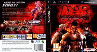 Tekken 6 pochette PS3 (BLES00635)