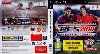 Pro Evolution Soccer 2010 pochette PS3 (BLES00689)