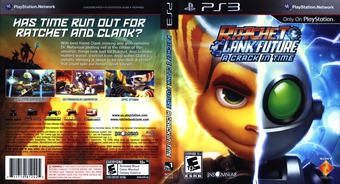 Ratchet & Clank: Future - A Crack in Time PS3 cover (BCUS98124)